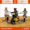 生产供应儿童骑行自行车助力车弹簧跷跷板小区儿童游乐设施摇摇乐