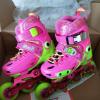 金峰儿童轮滑鞋s360+溜冰鞋旱冰花式平花鞋男女可调直排轮俱乐部