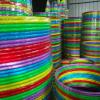 幼儿园/学校表演/运动新款铁管荧光系列呼啦圈-特粗直径90CM