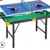 儿童台球桌标准斯诺克黑8 大号台球桌 家用 成人美式球1.2折叠款