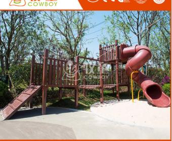 大型户外景区公园拓展游乐设备 儿童室外攀爬荡桥滑梯组合定制