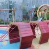 非标定制木制滑梯幼儿园新款儿童游乐设备厂家儿童木质攀爬滑梯