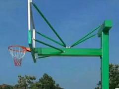 批发篮球架 标准户外室外成人地埋式篮球架 钢化玻璃篮板篮球架