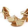 拉丁舞鞋女式新款成人交谊舞鞋子中跟舞蹈鞋女士摩登广场舞鞋软底