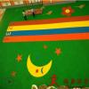 幼儿园epdm塑胶跑道 epdm塑胶地面橡胶颗粒垫彩色颗粒图案任选