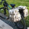 自行车山地车驮包后货架包大容量防水长途川藏骑行驼包防雨水装备