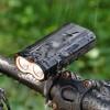 自行车前灯 USB充电T6高亮骑行照明灯 防水强光充电 山地自行车灯
