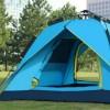 018 3-4人两门两窗帐篷 户外野营帐篷弹簧式速开防雨防晒帐篷