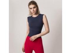 2019欧美夏新款紧身女式瑜伽运动背心女跑步速干健身衣带胸垫短袖
