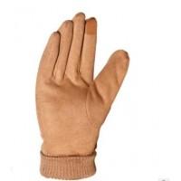 麂皮绒手套冬季保暖触摸屏加绒男女士韩版不倒绒户外运动骑行手套