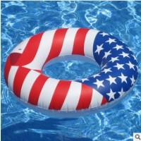 厂家订做国旗游泳圈 国旗面包圈 小黄鸭泳圈 五角星游泳圈