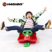 成人儿童滑雪板有舵方向盘滑雪车带刹车单板雪橇车冰车爬犁