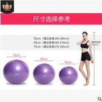 PVC加厚防爆瑜伽球65cm75CM 健身球瑜珈球55cm85cm磨砂 厂家代发