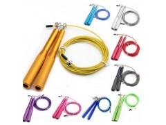 铝柄钢丝跳绳健身用品成人儿童属文体手柄轴承跳绳skipping rope