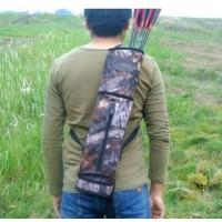 射击弓箭器材 迷彩箭壶箭囊 双肩背式箭袋箭筒 射箭器材户外用品