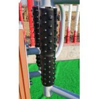 室外耐用塑木腰背按摩器室外路径户外学校小区室外健身器材