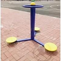 公园器材三人扭腰器健身路径户外运动器材室外小区公共健身设施