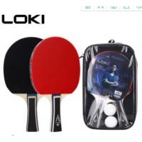 loki雷神乒乓球拍套装 横拍直拍成品拍 厂家定制学生初学训练
