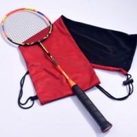 羽毛球拍绒布袋 双色加厚绒套布球拍保护套抽绳收缩保护袋2-3支装