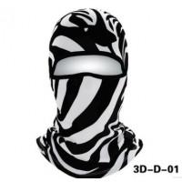 脸基尼软装备3D动物头套面罩防寒护脸保暖弹力绒骑行滑雪口罩