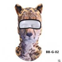 青龙林户外运动装备3D动物头套防晒运动头套面罩防风防尘骑行面罩