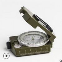 美式指南针全金属高档折叠式带夜光指北针户外多功能罗盘仪K458