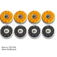 高档沙狐球用品 家用专业比赛沙壶球饼 冰球饼 直径58mm 亚面黄黑