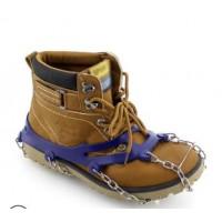 冬季户外攀岩登山十齿10齿防滑鞋套冰爪链条硅胶 简易防滑鞋链