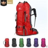 大容量防泼水60L登山包 户外运动背包 徒步双肩包带防雨罩