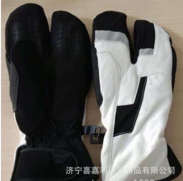 高档时尚三指款保暖滑雪室外冬季手套