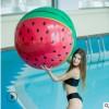 新款超大充气西瓜沙滩球 直径90cm西瓜成人戏水玩耍球