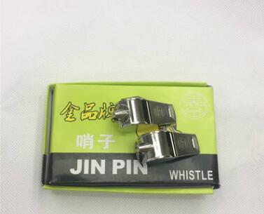 厂家供应优质金属口哨包边裁判口哨救生训练铁口哨纸盒装12个一盒