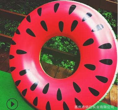 定制批发成人充气游泳圈西瓜泳圈充气救生圈120cm加厚西瓜泳圈
