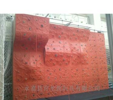 厂价直销俱乐部游乐场成人用玻璃钢多彩组合攀岩墙 坡度可定制