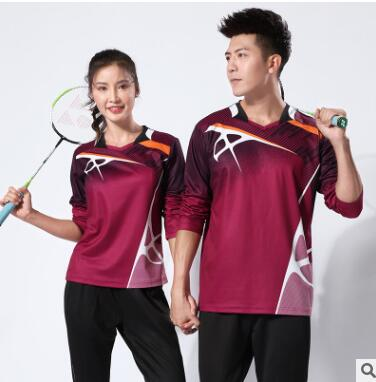 厂家直销 定制网球服服长袖套装秋冬气排球长裤比赛训练服运动服