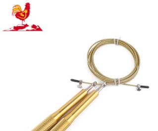 厂家直销铝手柄钢丝跳绳 户外集体运动绳子 可调节PVC 跳绳