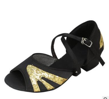 厂家直销女士拉丁舞鞋现货 拉丁女软底进口缎面舞鞋初学者舞蹈