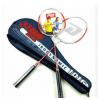 正品红双喜羽毛球拍 铝合金一体对拍装1016 羽毛球拍 带拍套