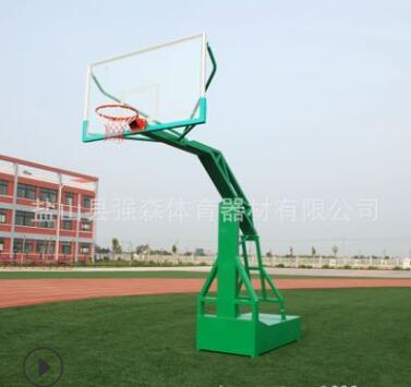 厂家直销户外可移动篮球架体育器材成人篮球架钢化玻璃板篮球架