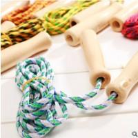 专业跳绳 学生跳绳 空心木柄 棉胶跳绳 地摊文具货源 儿童体育