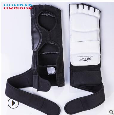 防护跆拳道手套半指训练比赛护脚背成人儿童通用道馆