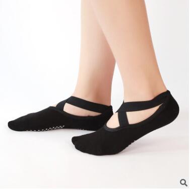 厂家直销防滑瑜伽袜交叉毛圈瑜珈袜健身舞蹈袜室内地板袜运动船袜
