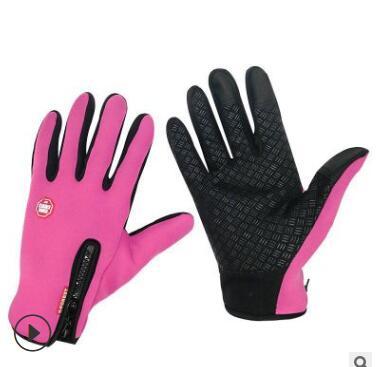 户外防水抓绒触屏手套山地车运动防寒保暖滑雪手套自行车骑行手套