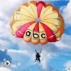 高端定制60平方进口防水尼龙景区游乐项目飞伞拖伞滑翔伞降落伞厂