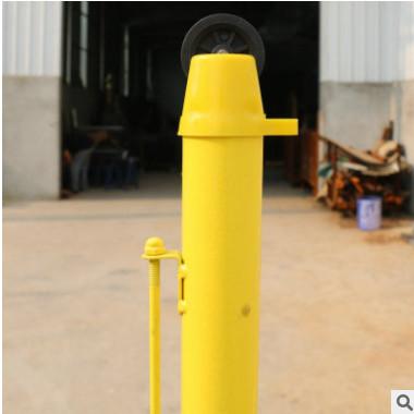 便携式羽毛球网架网柱 ABS网柱 标准室内外移动羽毛球柱