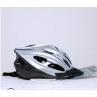 厂家批发骑行头盔自行车头盔银自行车装备安全帽山地车定制