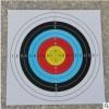 厂家直销40*40 全环靶纸弓箭练习箭靶靶纸初学者景点体验射箭靶纸