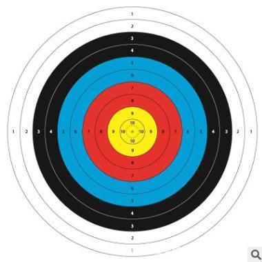 源头厂家80半环靶纸射箭练习靶纸加厚120克铜版纸一手货源