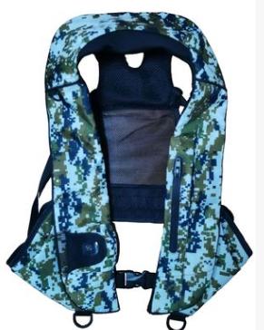 厂家批发直销新款手动自动修身立体充气成人救生衣,钓鱼救生马甲