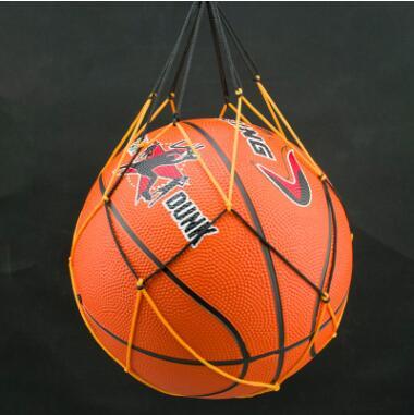 批发直销 弹力黑黄双色足球网 球网袋 粗尼龙篮球网兜